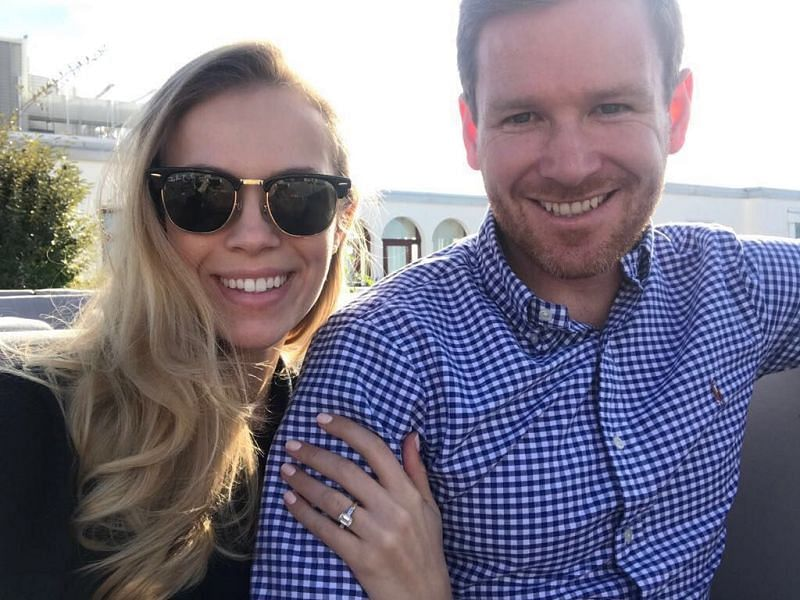 Eoin Morgan and his wife