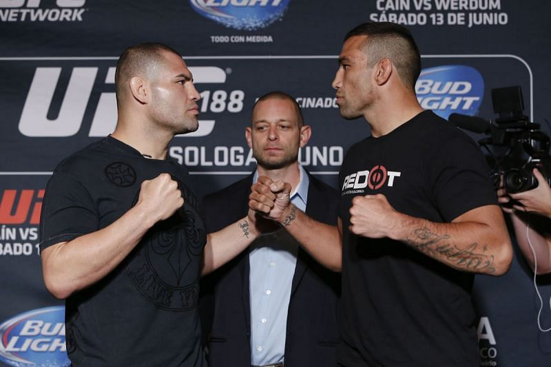 A fight between Cain Velasquez and Fabricio Werdum was scrapped three times over two years.