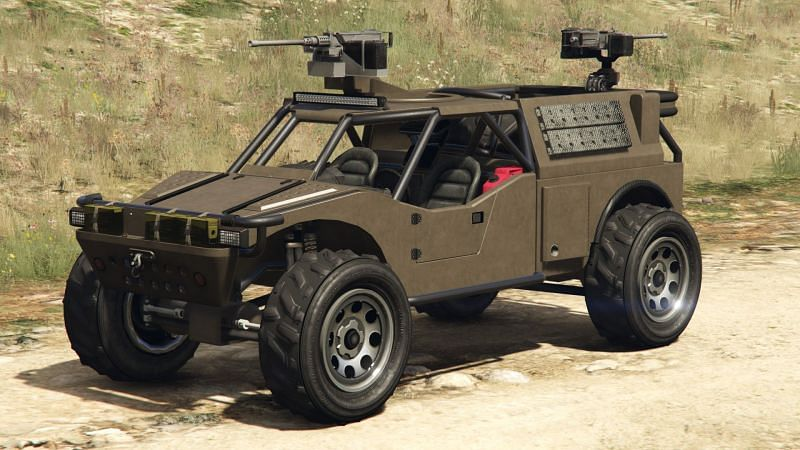 Military vehicles have a sheer presence that is unmatched (Image via GTA Wiki Fandom)