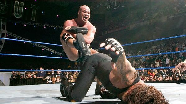 Kurt Angle defeated The Undertaker at the final PPV before WrestleMania 22