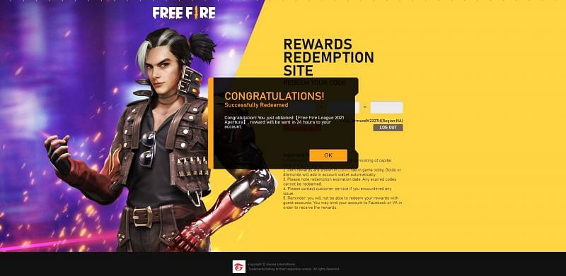 Players can collect the rewards from the in-game mail section