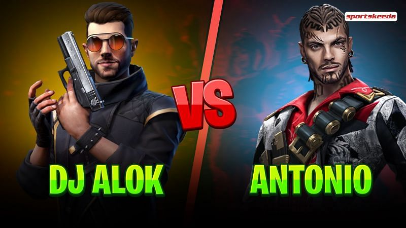 DJ Alok and Antonio are great characters to use in Garena Free Fire (Image via Sportskeeda)