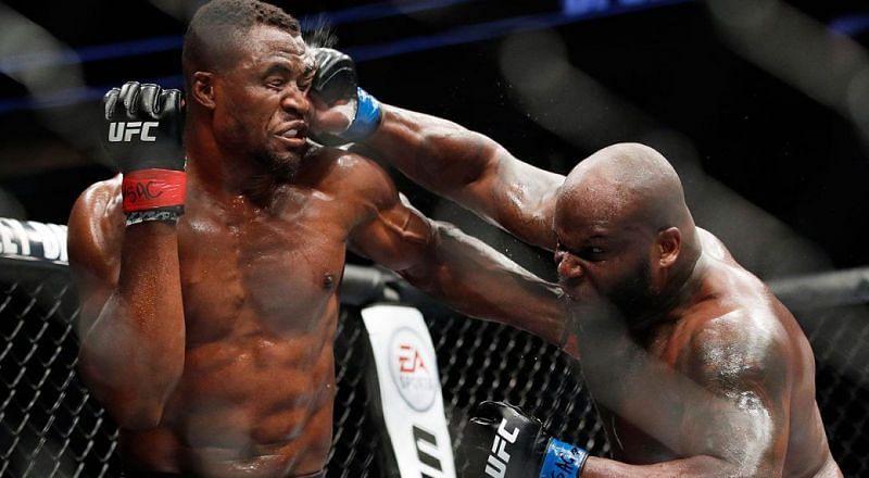Francis Ngannou (left); Derrick Lewis (right)