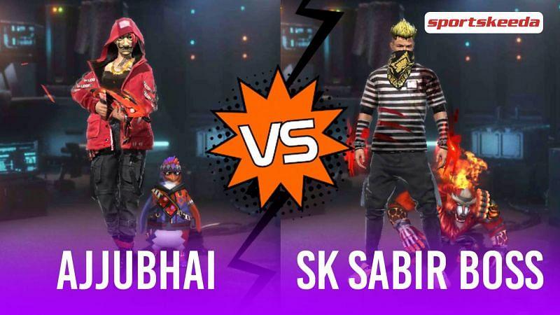 Garena Free Fire: Ajjubhai vs SK Sabir Boss (Image via Sportskeeda)