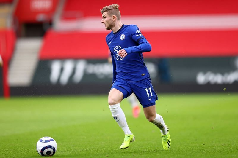 Werner in action for Chelsea