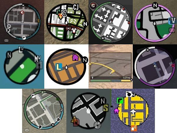 The minimap radar is an excellent game mechanic in the GTA series (Image via Sporcle)