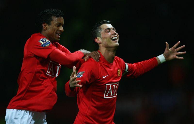 Nani and Cristiano Ronaldo