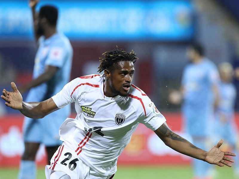 Deshorn Brown has scored four times in five starts for NorthEast United FC (Courtesy - ISL)
