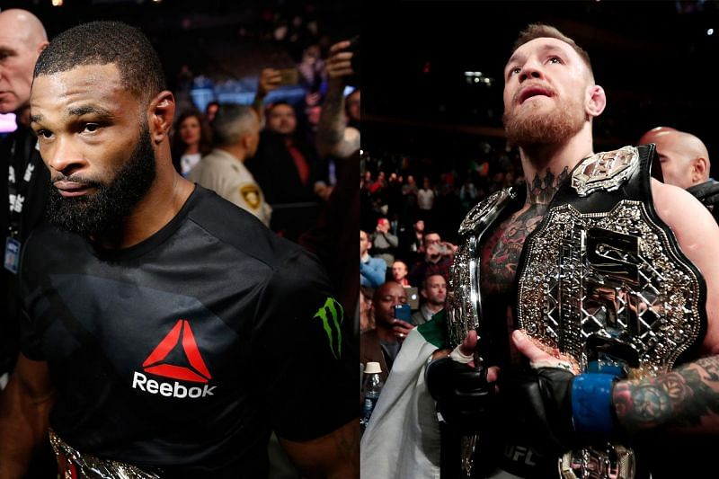 Tyron Woodley (L) and Conor McGregor (R) have a history