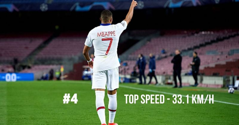 Kylian Mbappe is one of the fastest players in the UEFA Champions League