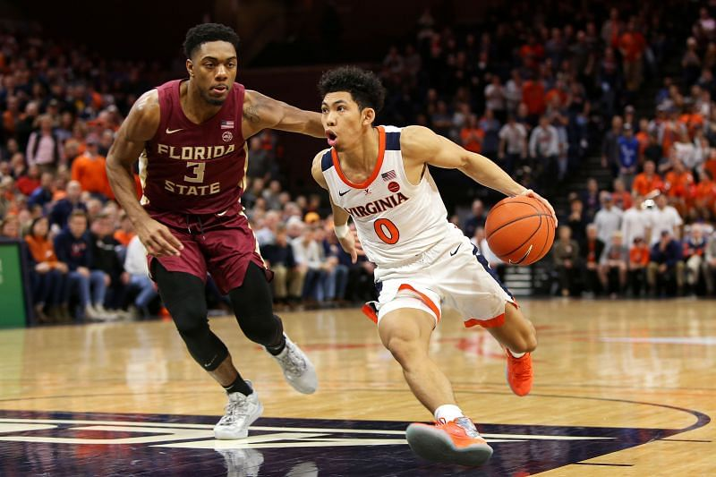 Kihei Clark #0 of the Virginia Cavaliers has been sloppy with the ball lately