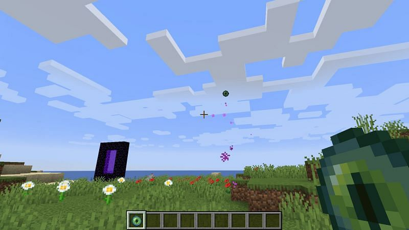 Eye of Ender in action (Image via Minecraft)