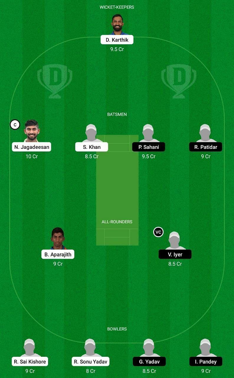 TN vs MP Dream11 Tips - Vijay Hazare Trophy