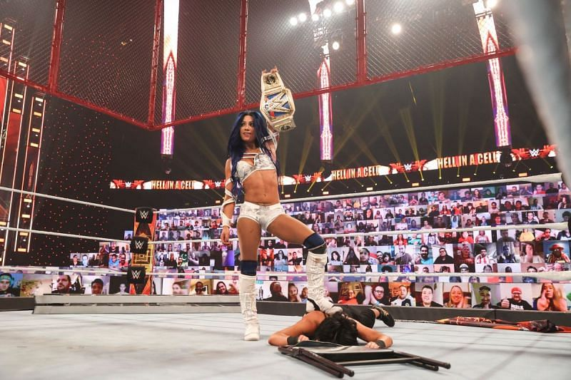 Sasha Banks defeated Bayley at Hell in a Cell last year