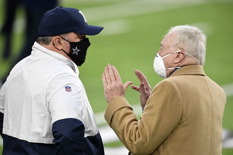 Dallas Cowboys owner Jerry Jones and HC Mike McCarthy