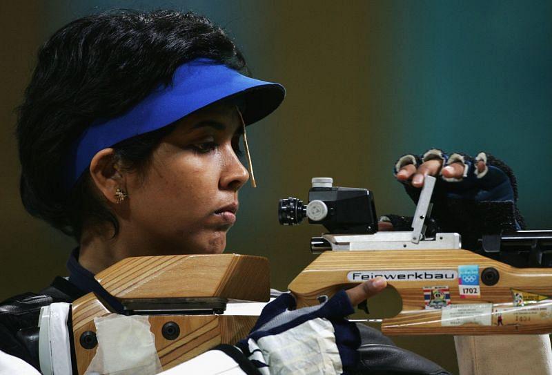 Suma Shirur during Womens 10m Air Rifle Final