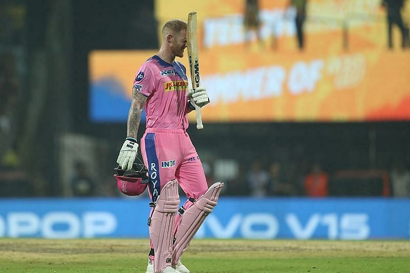 Ben Stokes in action for the Rajasthan Royals
