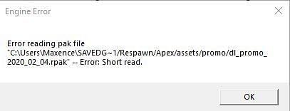 Error reading pak file dialog