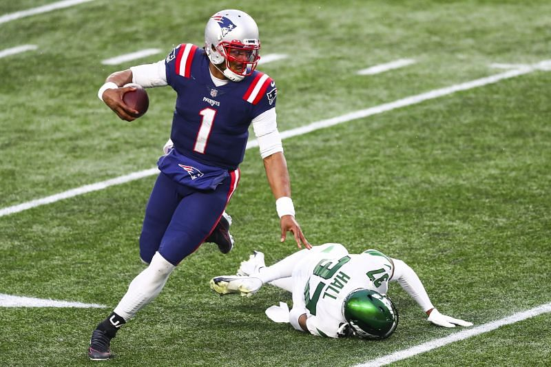 New York Jets face off against the New England Patriots in the 2020-21 NFL season