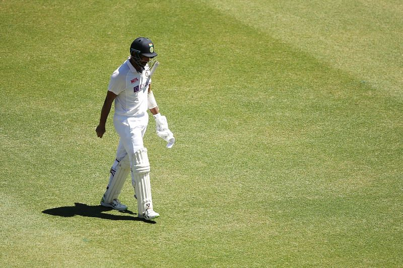 Pujara was dismissed in the seventh over of the final day