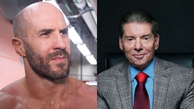 Cesaro and Vince McMahon.