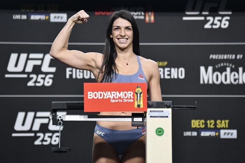 Mackenzie Dern at UFC 256 weigh-ins