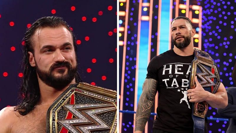 Drew McIntyre and Roman Reigns have a title defense each this Sunday.