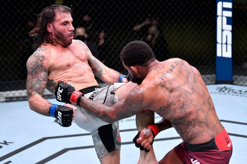 Clay Guida picked up a somewhat surprising win over Michael Johnson to keep his UFC career afloat.
