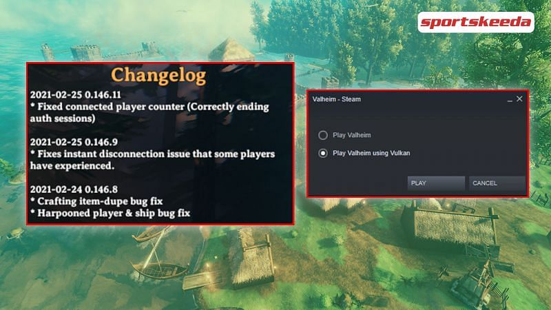 Multiple changes have come to Valheim with update 0.146.8 (Image via Sportskeeda)