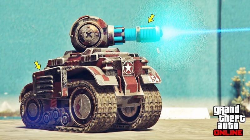 The Invade and Persuade RC Tank can be customized at Los Santos Customs (Image via CONE 11, YouTube)