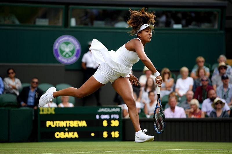 Naomi Osaka at Wimbledon