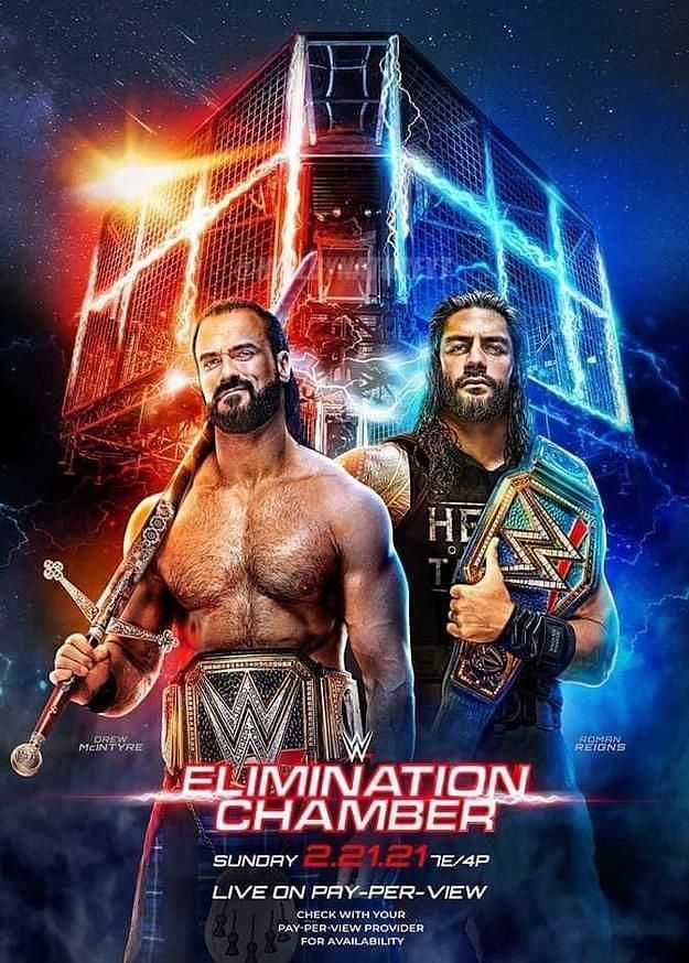 Elimination Chamber poster (Credit: WWE)