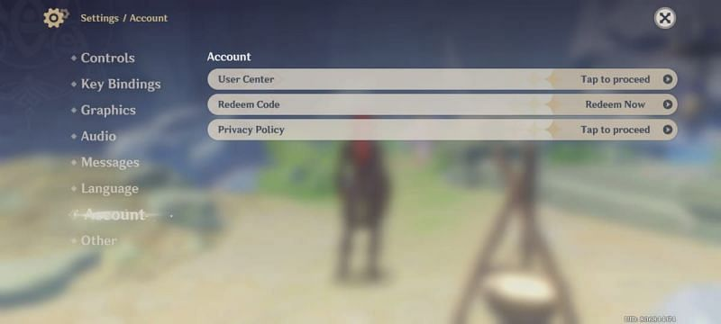 The code can be redeemed at Settings >