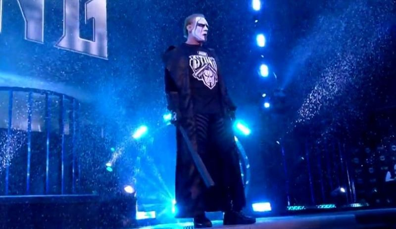 Sting made another appearance on AEW Dynamite on Wednesday night, facing off against Team Taz alone and paying the price for it.
