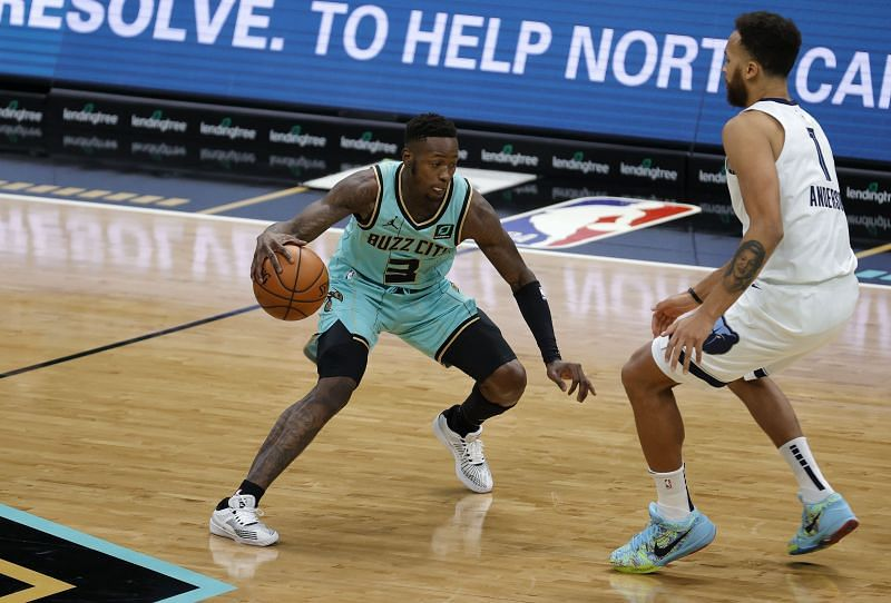 NBA DFS option Terry Rozier #3 of the Charlotte Hornets