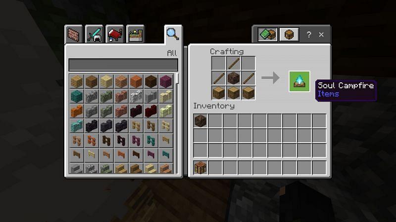 Crafting Minecraft Soul Campfire