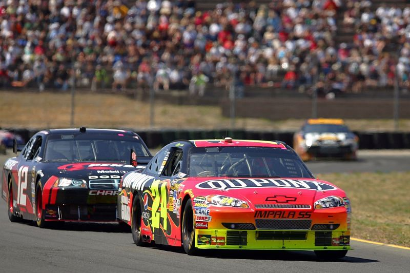 Jeff Gordon in the Toyota/Save Mart 350 at Sonoma Raceway. Photo/Getty Images