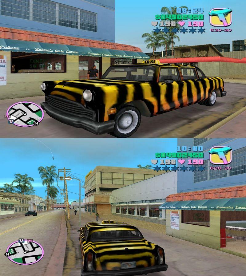 The much-loved Zebra Cab in GTA Vice City (Image via Hendrik118 (Pinterest))