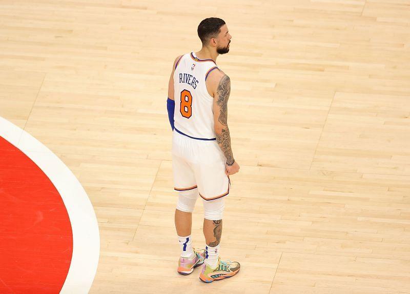 Austin Rivers of the New York Knicks