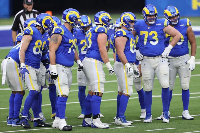 Los Angeles Rams in NFL action against the Arizona Cardinals