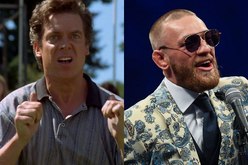 Christopher McDonald as Shooter McGavin (Left) and Conor McGregor (Right)