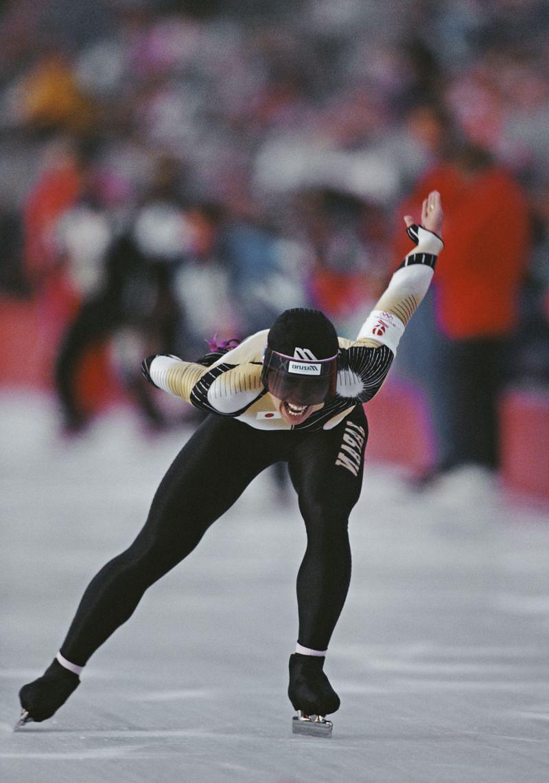 Seiko Hashimoto skating at the 1992 Winter Olympics