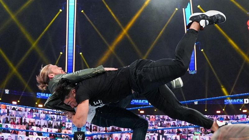 Roman Reigns laid out Edge on this week