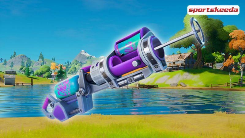 Chances Of Getting Bandage Bazooka Fortnite Where To Find The New Exotic Weapon Chug Cannon Slurp Bazooka In Fortnite