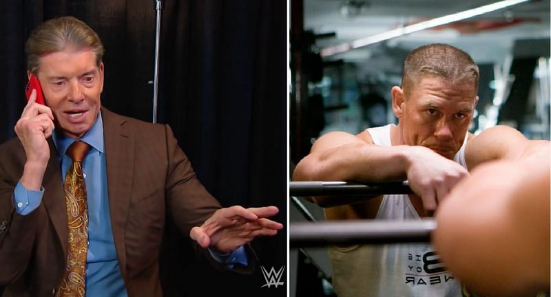 Vince McMahon and John Cena