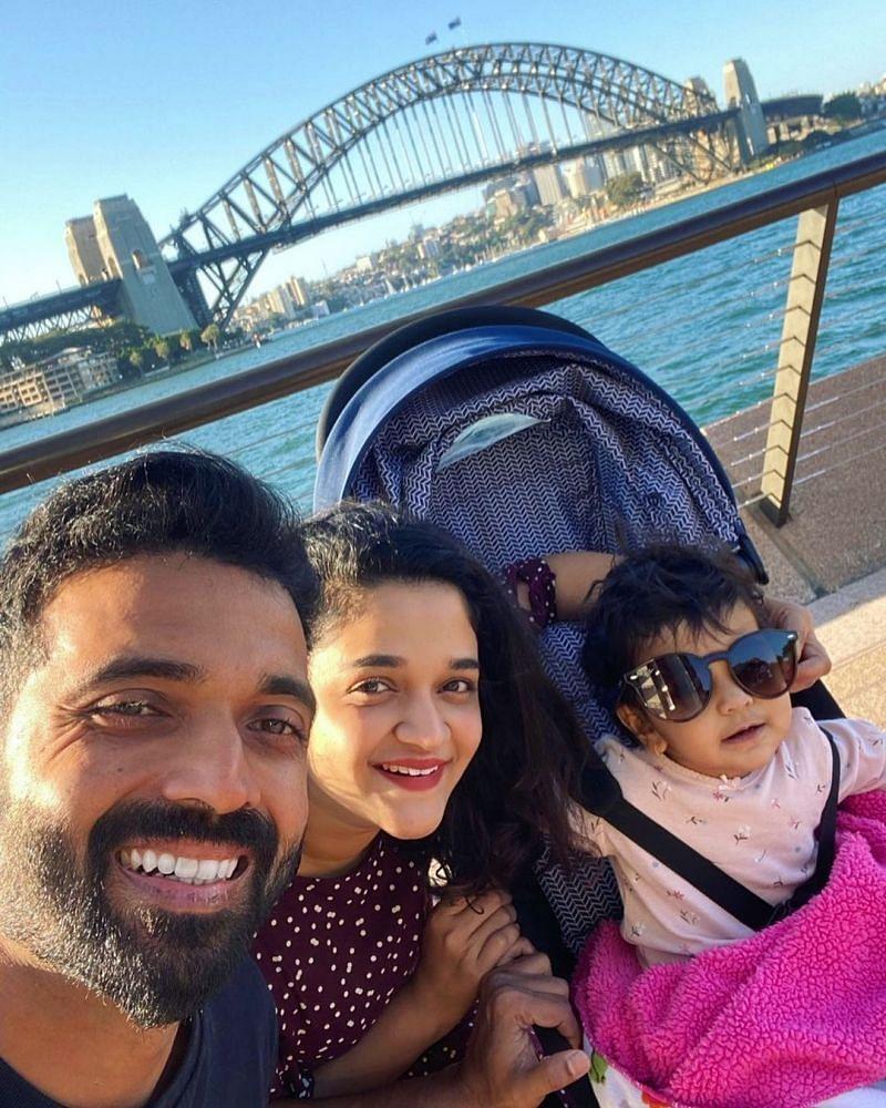 Ajinkya Rahane with his family