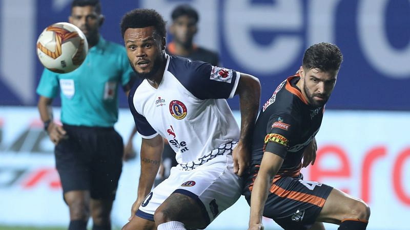 More known for his defensive prowess, Ivan Gonzalez (on the right) shone brightly in the attacking third. Courtesy: ISL