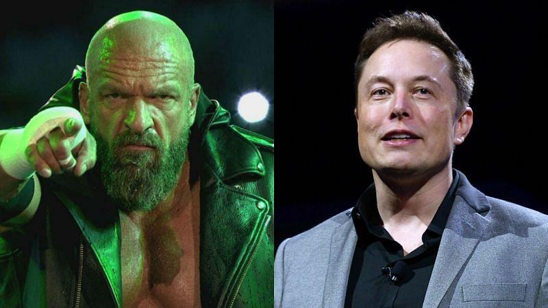 Triple H (left); Elon Musk (right)