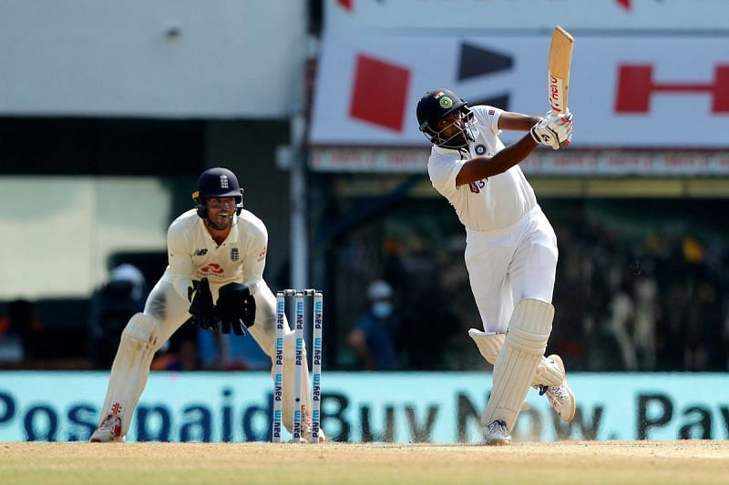 Ravichandran Ashwin en route to his fifth Test hundred (Photo: BCCI)