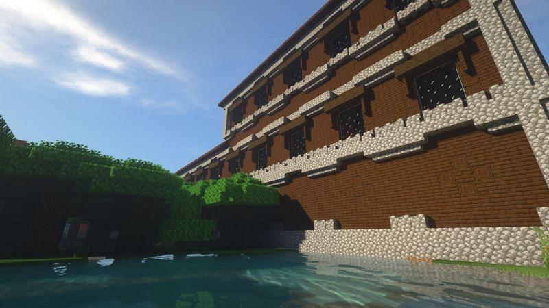 A woodland mansion in Minecraft (Image via Minecraft)